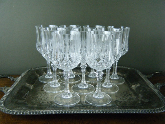 Exquisite Crystal Red Wine Glasses Thick By Kaiservonvintage