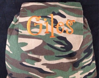 Personalized / minigtammed camouflage fabric / backpack