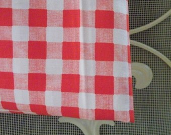 50% off this item, enter LOVE99 at checkout, Red and White Checkered, Red and White, Checkered, Material, Fabric, Fabric Supply, Yardage