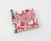 Sticky Note Holder Peppermint Swirl with Gel Pen 3x3 Notepad Christmas Candy Sweets Notepad