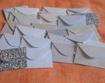 "100 Mini Envelopes - Recycled Security Envelopes - Recycled Mini Envelopes - Tiny Envelopes - 1.5"" x 2"""