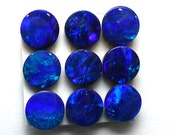 Opal Cabochon 6mm Round Blue Cobalt Green Australian ONE Stone Perfect for Stacking Rings Jewelry Confetti Pin Fire Sparkle Teal Aqua