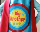 READY TO SHIP - Big Brother Superhero Cape - Sibling gift - big brother gift - new baby - Ships Fast