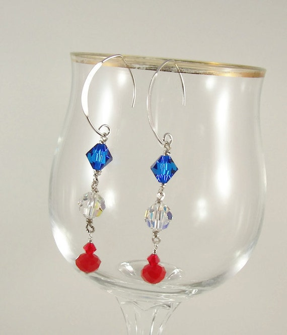 4th of july earrings patriotic earrings 4th of july earrings dangle 7260