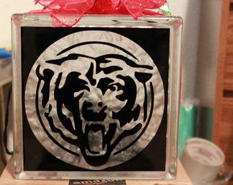Bear DIY decal for  glass block