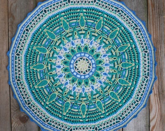 Overlay Mandala No. 7, crochet pattern, PDF in English, Deutsch