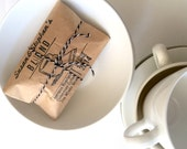 Reserved // Coffee and Tea Wedding Favors / Unique favors // Set of 60 with custom stamp