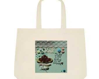 Chocolate Tote Bag in light blue