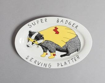 Super Badger Serving Platter