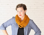 THE SKIPJACK COWL | 24 Color Choices | Chunky Knit Infinity Rope Loop Cowl Scarf