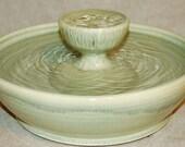 "Ceramic Cat Fountain / Indoor Fountain, Ceramic, Foodsafe  - 12.5 Inch Diameter -  ""Yellow Jade Piazza"""