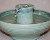 "Cat Water Fountain, Cat fountain, Pet Drinking Fountain  - REDUCED - 11 Inch Diameter - ""Jade Turretel"""