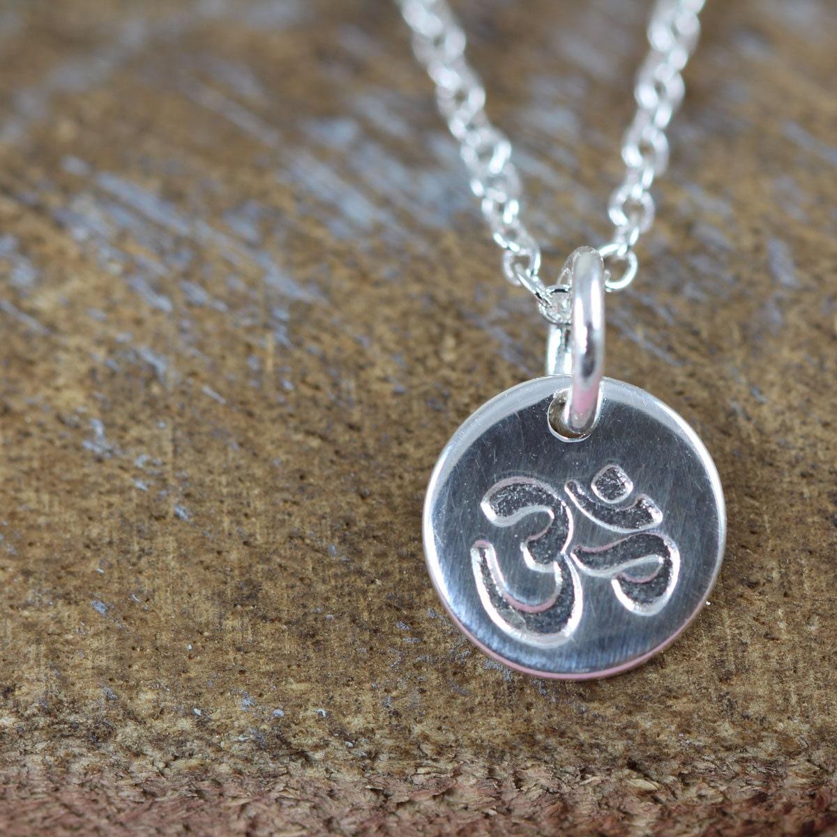 ohm necklace om charm aum pendant spiritual jewelry gift