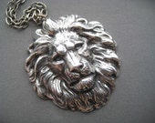 Large Lion Necklace - Lion Head Necklace - Lion Pendant - Unisex Necklace - Leo Jewelry - Strength Jewelry - Courage Jewelry - Leo Gifts