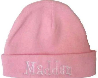 Inventory Reduction Sale-ONE- Light Pink-Infant /Newborn Infant Rib Knit Beanie - Personalized for YOU