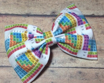 Chemistry Periodic Table Fabric Bow 5.5 Inches