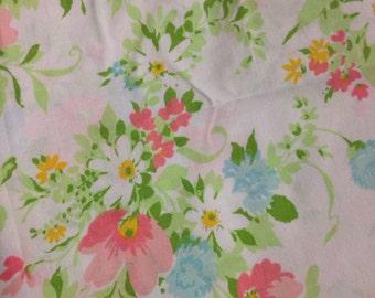 "Vintage sheet fabric 52x68"" piece"