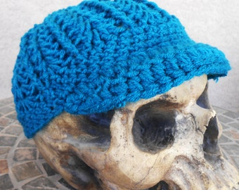 Teal newboy/brimmed hat