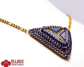 Tutorial Build it Up Triangle Pendant - Beading Tutorial, Instant download,Beading pattern, Jewelry Tutorial