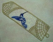 Bookmark, Abstract 'Lace' Hummingbird
