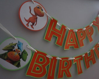 Dinosaur Train Birthday Banner - MADE TO ORDER