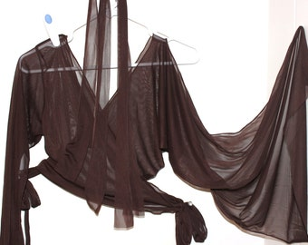 Brown Chiffon Dance Costume Size Adult Medium