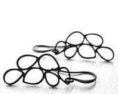 Earrings / Dangle Metal Earrings / Gift for Her / Accessories / Classy Earrings / Matte Black Teardrop Jewelry / Gift Box