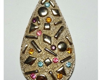 """By """"Sarah Coventry"""". Gold Plated Rhinestone Pendant  Apparel & Accessories Jewelry Vintage Jewelry Necklace"""