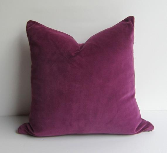 Custom Order for Suzanne Plum Velvet Pillow Cover by studiotullia