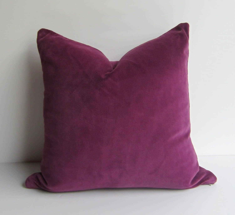 Throw Pillows Printing : Custom Order for Suzanne Plum Velvet Pillow Cover by studiotullia