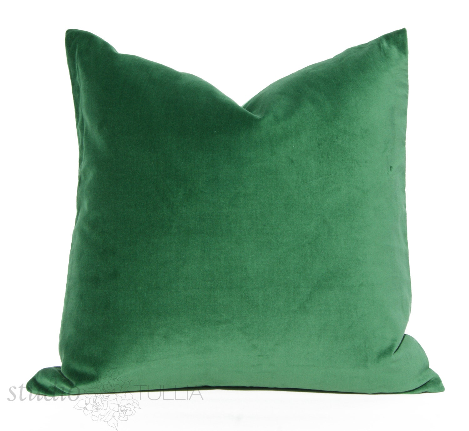 Decorative Pillows With Green : Emerald Green Velvet Pillow Cover Decorative Pillow Cover
