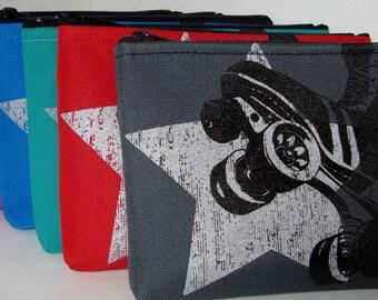 NEW Black Skate and Silver Star Power Skate Hip Bag