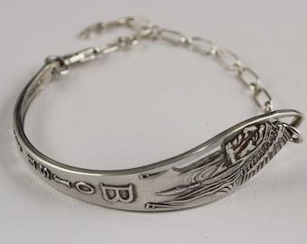 Sterling Silver Spoon Bracelet Tourist Indian Head Boise Idaho Vintage 925