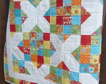 Quilt Pattern, Jelly Roll Pattern, Modern Quilt Pattern, Easy Quilt Pattern, PDF Quilt Pattern , 5 sizes from Crib to King, Sunny Days