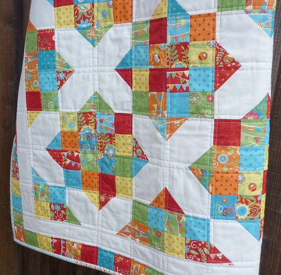 Easy Quilt Patterns For Jelly Rolls : Quilt Pattern Jelly Roll Pattern Modern Quilt Pattern Easy