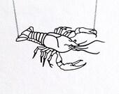 Crawfish Crayfish Crawdad Lobster Prawn Necklace