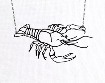 Crawfish Crayfish Crawdad Lobster Prawn Necklace