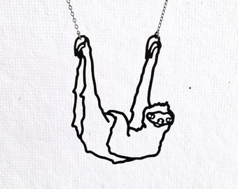 Sloth necklace, Three toed sloth