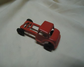Vintage Plastic Red Toy Truck with no Bed, collectable