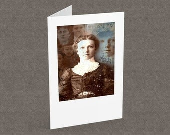 THE OTHERS2 - blank note card A6, vintage portrait, gothic inspired, halloween card
