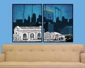 Kansas City Royals Split Digital City Wall Art
