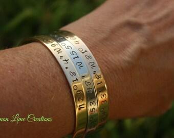 Custom Cuff Bracelet, Personalize Cuff Bracelet, Personalize Jewelry, Name, Wedding, Mother Jewelry, Graduation, Rose, Gold, Silver