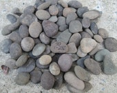 """SALE  River Rocks Mixed Lots Shapes and Sizes to over 2"""" Stones Lot 52B"""