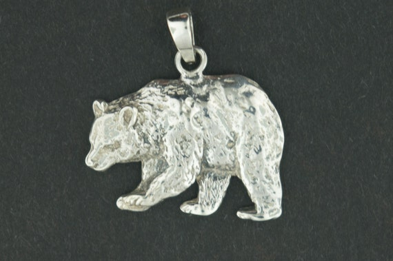 Bear Pendant in Sterling Silver