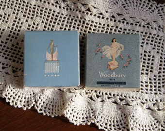 Pair of Woodbury Powder Boxes / Art Deco