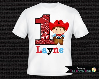 Personalized Cowboy Birthday T-Shirt or Bodysuit
