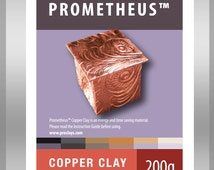 Prometheus Copper Metal Clay, Torch firable, no carbon required, no kiln required