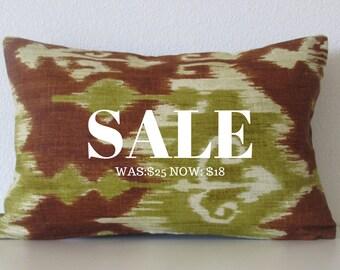 Pillow SALE Modesto Ikat Arbor 12x18 lumbar pillow cover