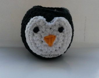 Crochet Pattern - Christmas Penguin Apple or Chocolate Orange Cozy - instant digital download
