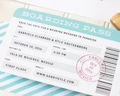 Boarding Pass Save the Date - Destination Wedding Save the Date - Airplane Ticket Flat Printing - SAMPLE